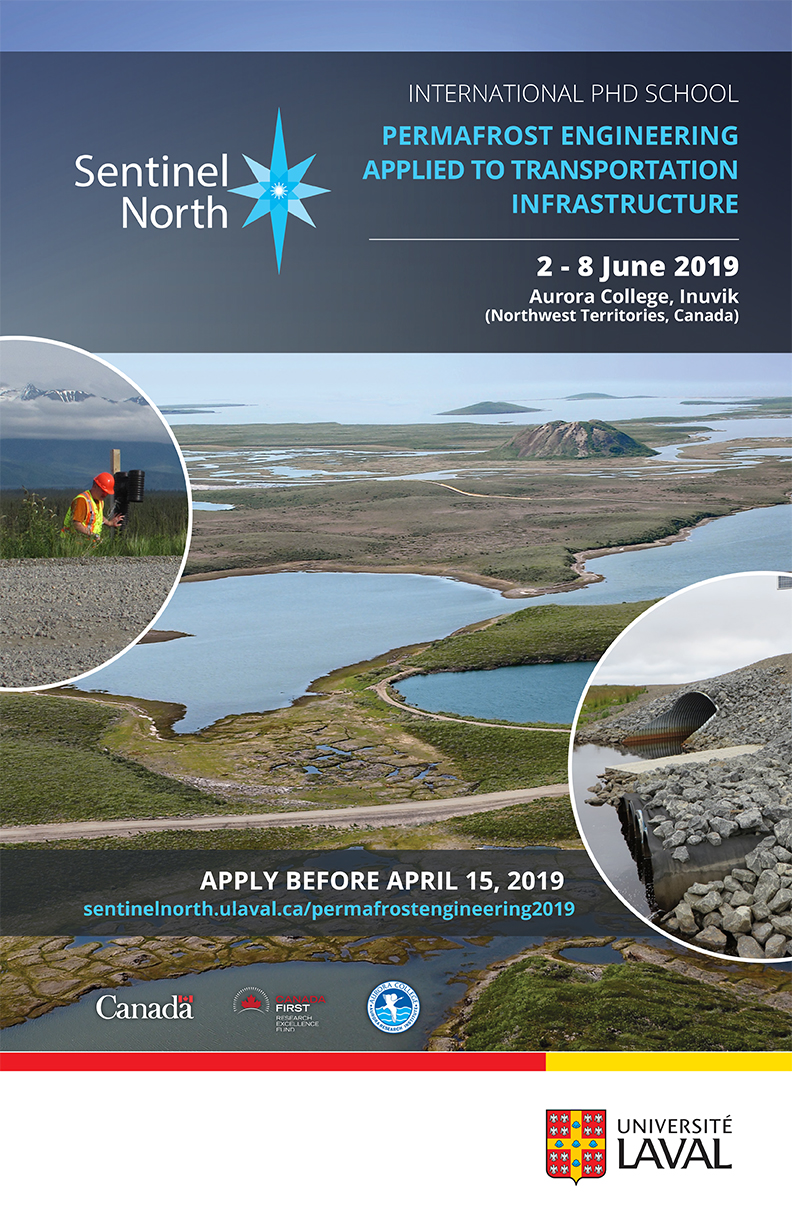 sentinel north international phd school on permafrost engineering applied to transportation infrastructure